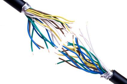 prestrihnutý kábel