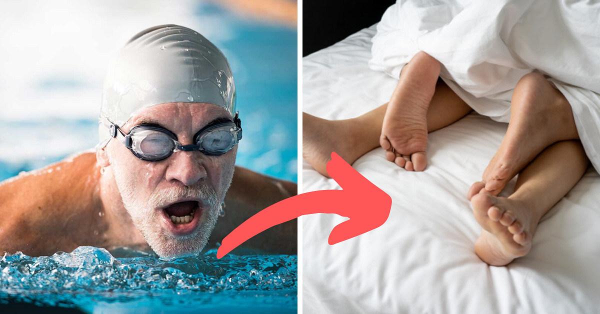 plávanie a erekcia